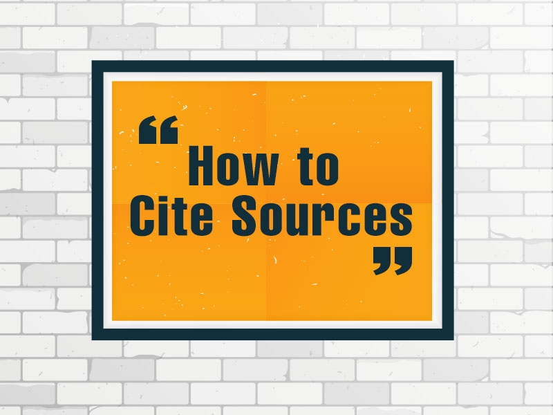 how to properly cite sources