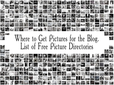 Where to get free blog images. List of free picture directories